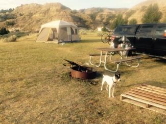 Tenting at Makoshika State Park