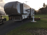 Robins Island and our upsized 39' trailer