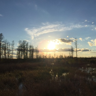Sunsetting over Cane Pole Trail